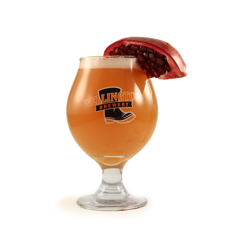 3 weeks notice - pomegrante witbier glass