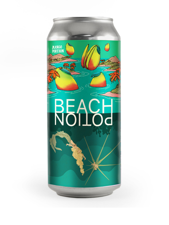Beach Potion single hop mosaic IPA with Mango - can