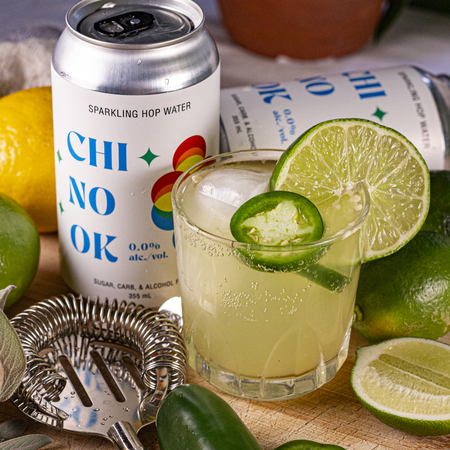Chinook sparkling hop water cocktail recipe