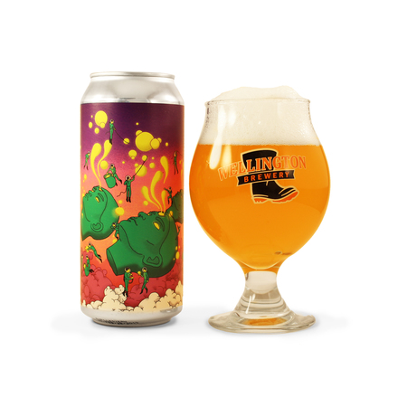 faces - double IPA azacca and citra glassware