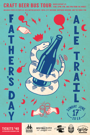 fathers day Ale Trail 2018 poster