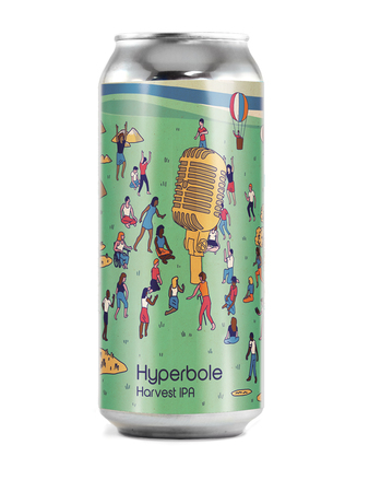 Hyperbole Harvest IPA with Pumpkin, Rhubarb, Grapefruit, and Peaches 3