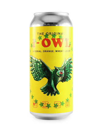 i OWL imperial Orange Wheat Lager can
