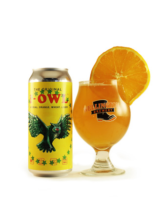 iOWL imperial Orange Wheat Lager glass