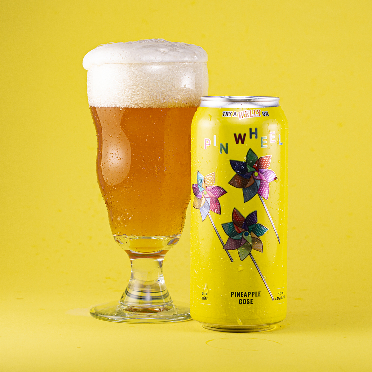 Pinwheel Pineapple gose glass