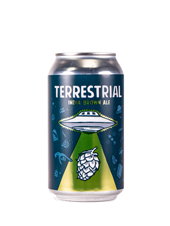Terrestrial Inda Brown ale can