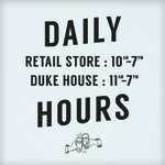 Updated Store hours!
